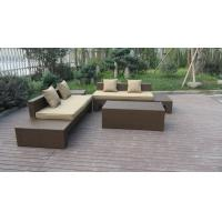 Plastic Rattan Furniture Soft Set With 100x100x70cm Middle Sofa Manufactures