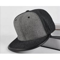 Fitted Baseball Style Leather Brim wool Quality Grey Blank Snapback cap Manufactures
