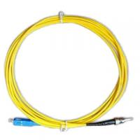 China Fiber Optic Patch Cord FC-ST Single Mode Simplex 3.0mm High Credibility on sale