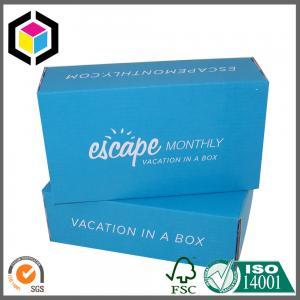 Blue Color Flexo Print Corrugated Box; Custom Color Cardboard Packaging Box Manufactures