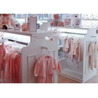 Quality Beautiful Neat Baby Clothing Store Display Fixtures With Eco - Friendly Material for sale