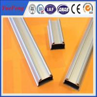 Anodized matt aluminium profile accessories for led,aluminium extrusion for led tube Manufactures
