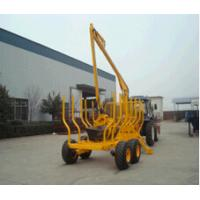 China 8T Hot sale farm grapple log loading trailer timber trailer with crane,Log Trailer With Crane Forestry Machine on sale