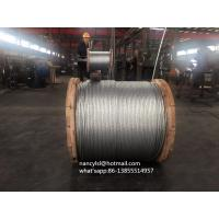 China 1x19 Structure Steel Strands , Galvanized Strand For Power Telecomission Lines on sale