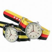 Fashionable Fabric Exchangeable Wristwatches, Alloy Case, Thickness of 10mm Manufactures