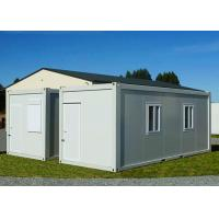 Gable - Roof Modular Container House , Steel Door Fireproof White Container House Manufactures