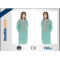 PP 22gsm Disposable Isolation Gown 115x127cm Elastic Cuff With Long Sleeve Gown Manufactures
