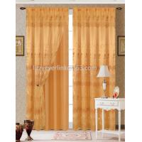 organza embroidery curtain with fashion valance,with lining Manufactures