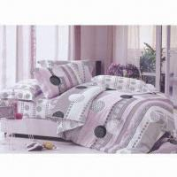 Bedding Set with 100% Cotton, Pigment Print Pattern and 40s Yarn Count Manufactures