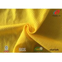 China 7*1 54D FDY SHINY Polyester Micro Mesh Fabric , Yellow Swimsuit Mesh Fabric on sale