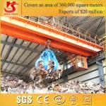 Hot sale double beam grab door type crane crane with grab manufacturer Manufactures