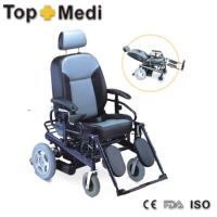 Aluminum Electric Mobility Wheelchair with optional Elevating Leg Rests Manufactures