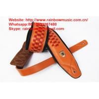 customer design hot sale leather guitar straps belts musical instruments guitar parts from China Manufactures