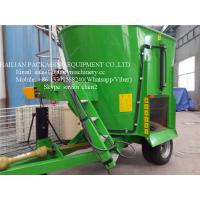 China Green Vertical TMR Mixers For Feeding Animal , Cow Cattle Feeding Mixer on sale