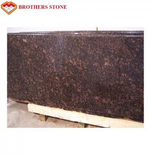 China Beautiful Polished Granite Stone , Natural Tan Brown / English Brown Granite Slabs on sale
