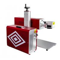 China Portable RF Metal Tube CO2 Laser Marking Machine For Leather Wood Engraving on sale