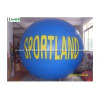 China Blue / White Big Advertising Inflatables , Inflatable Helium Balloon on sale