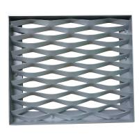 China Customizable Expanded Aluminum Mesh , Aluminium Diamond Mesh For Building Facade on sale
