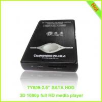 """TY809: 1080P 2.5"""" SATA HDD Media Player RM MKV 3D Player Manufactures"""