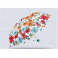 Fancy Pink 5 Fold Umbrella For Women Totes Compact Umbrella Easy Carrying Manufactures