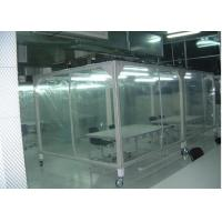 Quality Power Coated Steel Softwall Cleanroom Pharmaceutical , Vertical Laminar Air Flow Chamber for sale