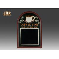 Decorative Wooden Framed Wall Hanging Chalkboards Coffee Time Wall Sign Manufactures