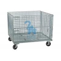 China Stackable Rodent Proof Wire Mesh Storage Cages On Wheels Φ6mm Wire Size on sale