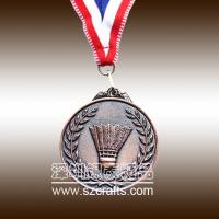 lowest price of high performance copper sports medal/metal medal Manufactures