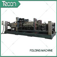 Energy Saving Cement Paper Bag Folding Machine , Bottom Width 100 - 150mm Manufactures