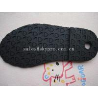 China Wear resistant TPR rubber boot sole / shoe outsole sheet , heart pattern on sale