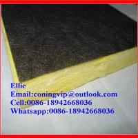 Fiberglass wool board with black tissue onone side Manufactures