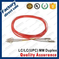 lc-lc/upc optic fiber patch cords for structure cabling to patch panel ST SC FC LC gray connectors OM1 Duplex Manufactures