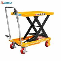 China Factory supply safety device 500kg load capacity manual scissor lift table on sale