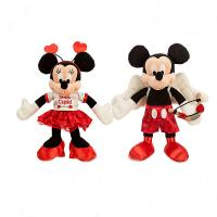 Red Valentine Days Mickey mouse Disney Plush Toys 9 inch Custom Manufactures