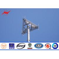 Anticorrosive Mobile Communication Mono Pole Tower 100 FT With Hot Dip Galvanization Manufactures