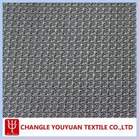 Grey 100% Polyester Diamond Mesh Fabric Manufactures