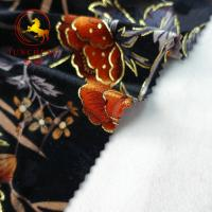 China wholesale burnout 100% silk velvet fabric on sale