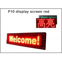 P10 RED LED sign semioutdoor wireless and usb programmable rolling information led display screen message led sign Manufactures