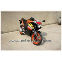 High Performance CBR150 Drag Racing Motorcycles With 4 Stroke Air-cooled Orange Manufactures