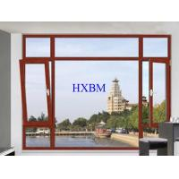 Strength Enhanced Alu Wood Windows , Customized Color Alu Clad Timber Windows Manufactures