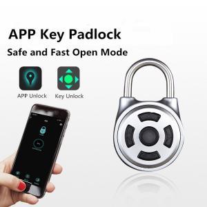 SS 304 Intelligent Electronic Padlock , APP / Key Unlock Bluetooth Padlock Manufactures