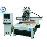 Automatic Tool Changer Computer Controlled Wood Router Machine With 4 Heads Manufactures