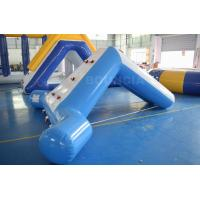 0.9mm Blue Color PVC Tarpaulin Swimming Pool Small Water Slide Manufactures