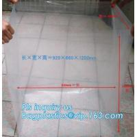 China Disposable PE Plastic Pallet Covers bag on Roll, Waterproof Pallet Cover Plastic PE for Europallet 80x120x250 cm, BAGEAS on sale