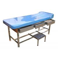 Stainless Steel Doctor Examination Table With Drawers / Movable Step Stool Manufactures