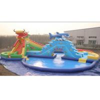 25m Outdoor Inflatable Water Parks with Plato PVC Tarpaulin 0.9mm Manufactures