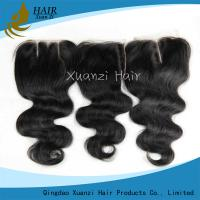 Long Lasting Human Hair Top Closures Middle Deep Wave Parting Real Hair Grade 7A Manufactures