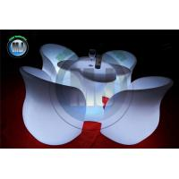 China 16 Colors Changing  Battery Power Remote Control Illuminated LED Flower Shaped Table on sale