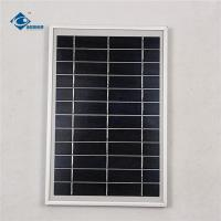 China 6V 6W Aluminum frame solar panel for solar panel battery charger ZW-6W-6V Glass Solar Panel on sale