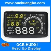 Ouchuangbo HUD Projector Head Up Display OBD II car alarm detector system for Overspeed Manufactures
